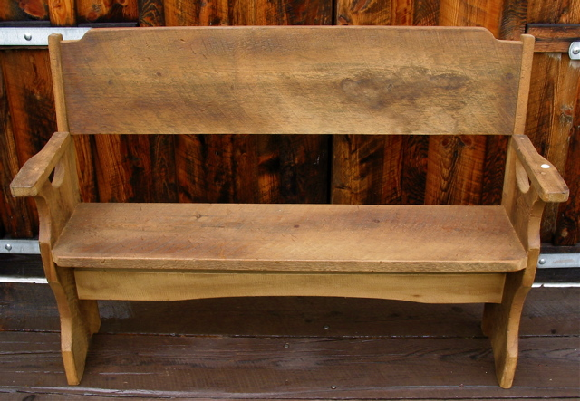 Antique wood benches catskill mountains antiques new york for Reclaimed wood new york